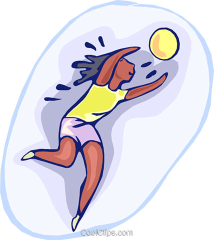 volleyball Royalty Free Vector Clip Art illustration vc000462