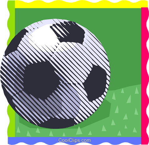 Soccer ball Royalty Free Vector Clip Art illustration vc000488