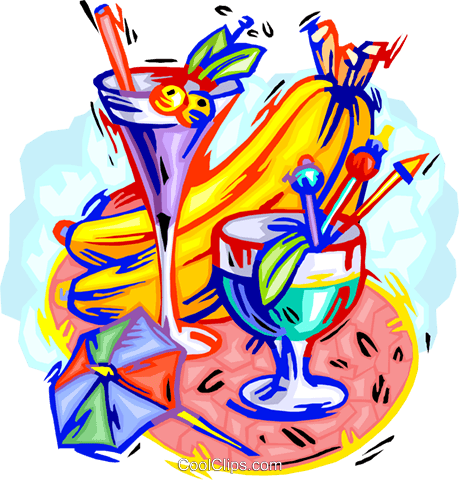 cool refreshments Royalty Free Vector Clip Art illustration vc000491