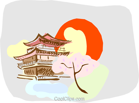 pagoda Royalty Free Vector Clip Art illustration vc000520