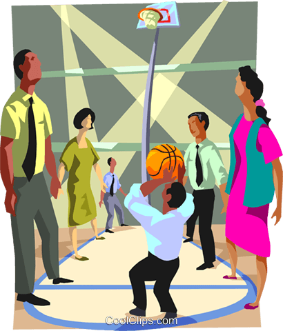 business metaphors, basketball Royalty Free Vector Clip Art illustration vc000612