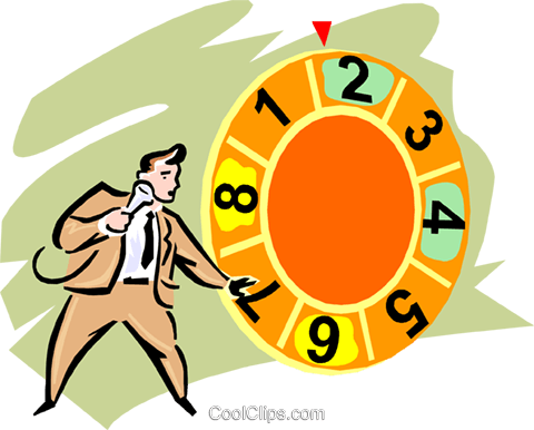 Game Show Host Royalty Free Vector Clip Art illustration vc000619