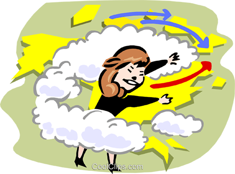 Weatherperson Royalty Free Vector Clip Art illustration vc000625