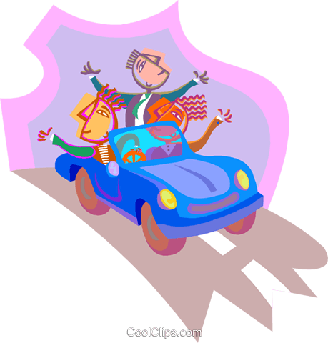 business metaphors, driving Royalty Free Vector Clip Art illustration vc000683