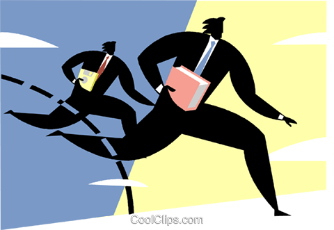 Businessmen in a race Royalty Free Vector Clip Art illustration vc000720