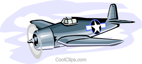 Military industry, military-F6F Hellcat Royalty Free Vector Clip Art illustration vc000747