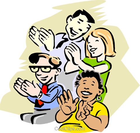 Audience Clapping Royalty Free Vector Clip Art illustration vc000751