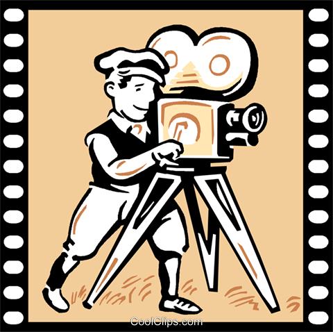Film Maker Royalty Free Vector Clip Art illustration vc000754