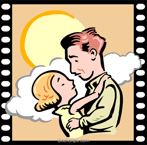 Love Story Romance Royalty Free Vector Clip Art illustration vc000755