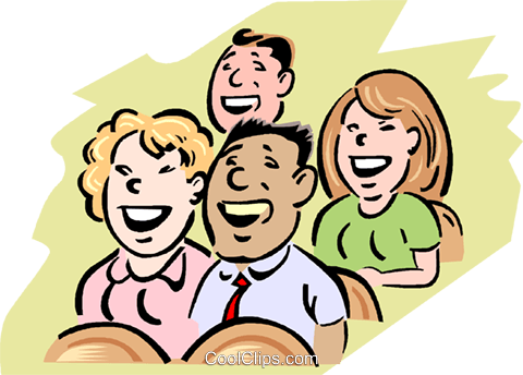 Audience Laughter Royalty Free Vector Clip Art illustration vc000757