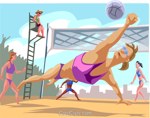 Woman's volleyball Royalty Free Vector Clip Art illustration vc000764