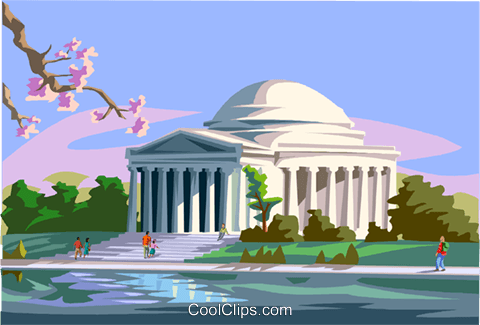Jefferson Memorial Vecteurs de stock et clip-Art vectoriel vc000767