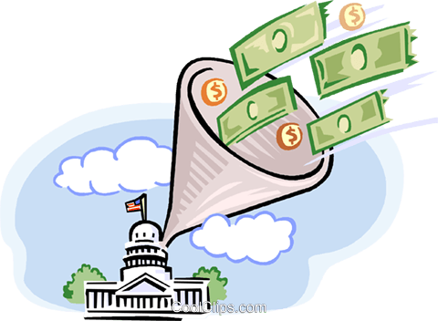 Govt money Royalty Free Vector Clip Art illustration vc000773
