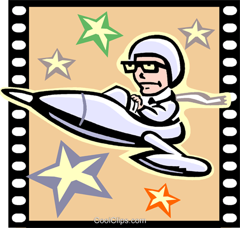Science Fiction Movie Royalty Free Vector Clip Art illustration vc000776