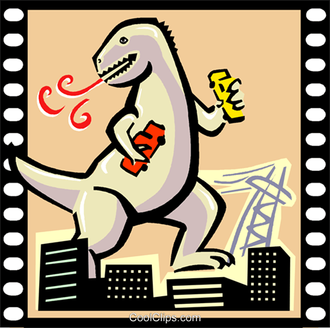 Monster Movie Royalty Free Vector Clip Art illustration vc000778