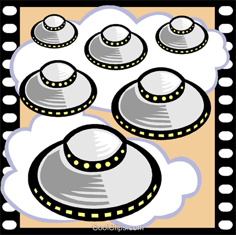 Science Fiction Movie Royalty Free Vector Clip Art illustration vc000783