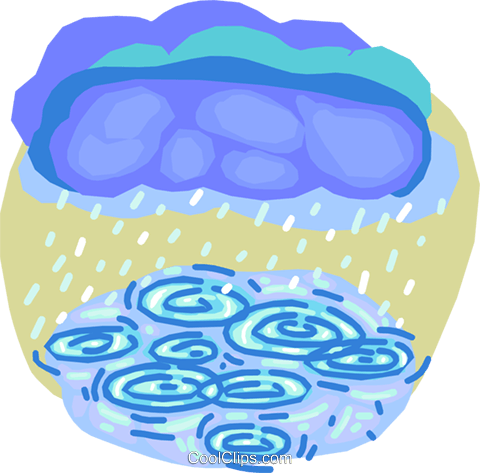 Clouds with rain Royalty Free Vector Clip Art illustration vc000787
