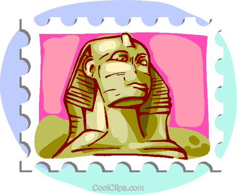 The sphinx Royalty Free Vector Clip Art illustration vc000803