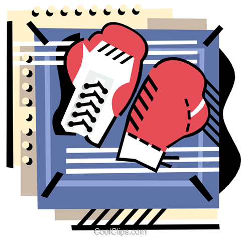 Boxing gloves Royalty Free Vector Clip Art illustration vc000835