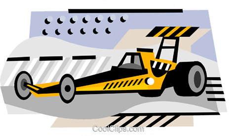 Drag Racing Royalty Free Vector Clip Art illustration vc000841
