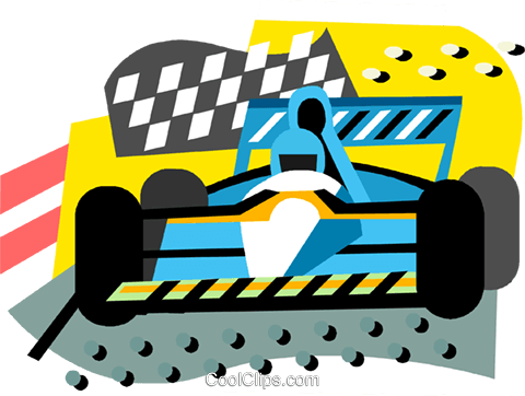 Auto Racing Royalty Free Vector Clip Art illustration vc000844