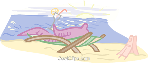 Sipping on a drink near the ocean Royalty Free Vector Clip Art illustration vc000893