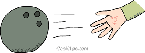 Bowling ball Royalty Free Vector Clip Art illustration vc000912