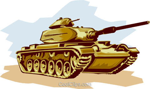 Tank ready to fire Royalty Free Vector Clip Art illustration vc000980