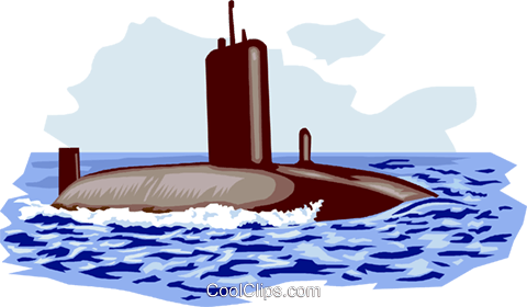 Submarine Royalty Free Vector Clip Art illustration vc000982