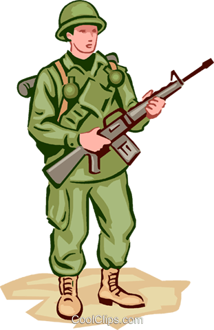 Soldier Royalty Free Vector Clip Art illustration vc000986