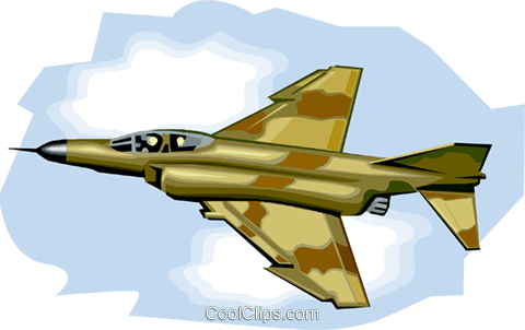 U.S. Fighter Jet, Phantom 2 Royalty Free Vector Clip Art illustration vc001009