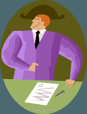 业务协议 免版税矢量剪贴画插图