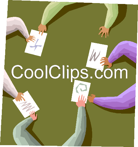 Exchanging ideas Royalty Free Vector Clip Art illustration vc001100