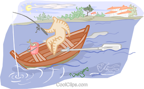 Fishing Royalty Free Vector Clip Art illustration vc001138