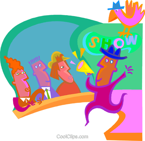 Audience watching show Royalty Free Vector Clip Art illustration vc001159