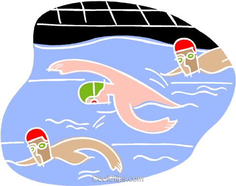 Swimming race Royalty Free Vector Clip Art illustration vc001181
