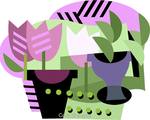 Tulips flowers Royalty Free Vector Clip Art illustration vc001241