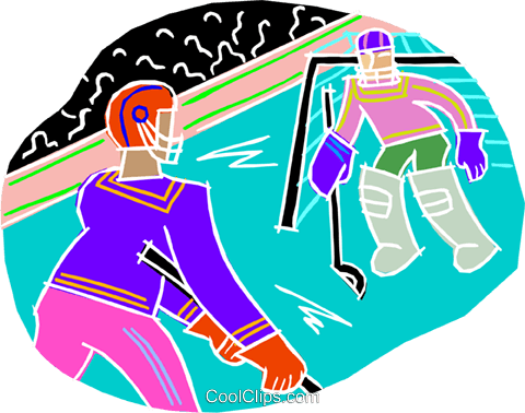 Hockey Royalty Free Vector Clip Art illustration vc001300