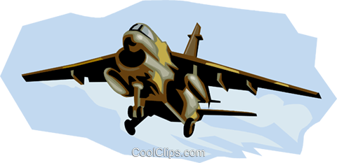 A-7 Corsair II Royalty Free Vector Clip Art illustration vc001314