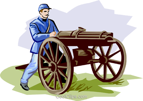 Civil War Machine Gun Royalty Free Vector Clip Art illustration vc001315
