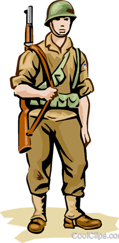 us soldier wwii royalty free vector clip art illustration