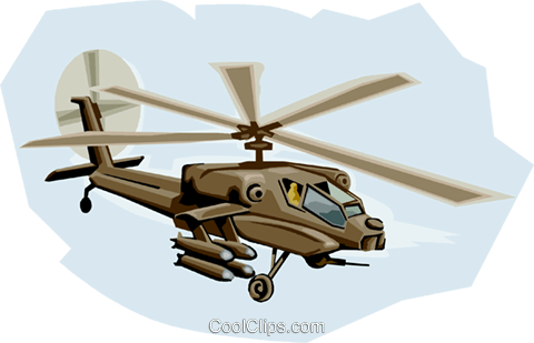 AH-64 Apache Royalty Free Vector Clip Art illustration vc001318