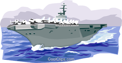 US Aircraft Carrier Royalty Free Vector Clip Art illustration vc001320