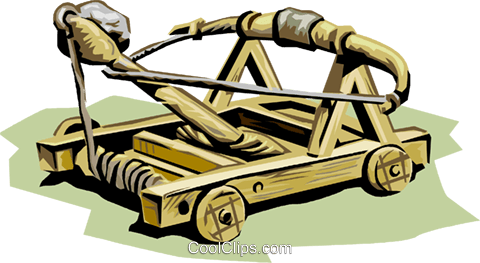 Historical, catapult Royalty Free Vector Clip Art illustration vc001335