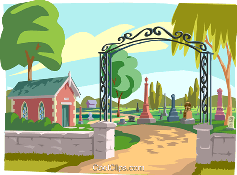 cemetery Royalty Free Vector Clip Art illustration vc001342