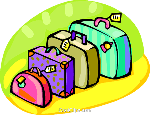 luggage Royalty Free Vector Clip Art illustration vc001364