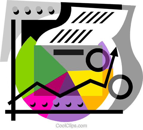 business chart Royalty Free Vector Clip Art illustration vc001389