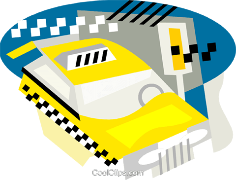 taxi Royalty Free Vector Clip Art illustration vc001396
