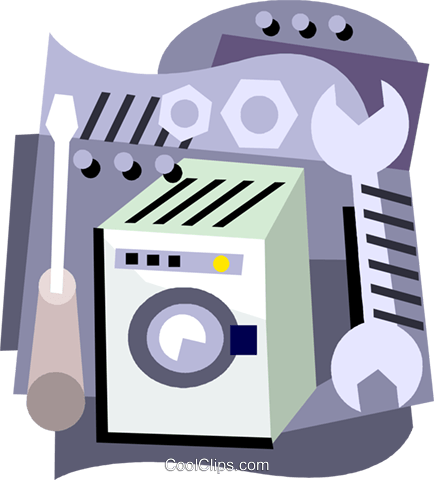 appliance maintenance Royalty Free Vector Clip Art illustration vc001398