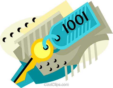 hotel room key Royalty Free Vector Clip Art illustration vc001403